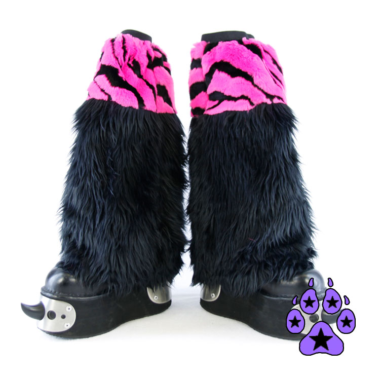 Tiger Fur Two-Tone Leg Warmer