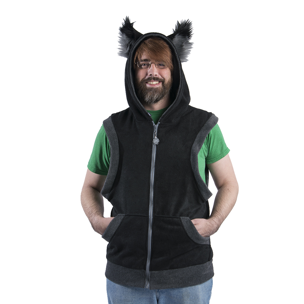 Sleeveless Wolfy Howl Color Theme Wolf Hoodie