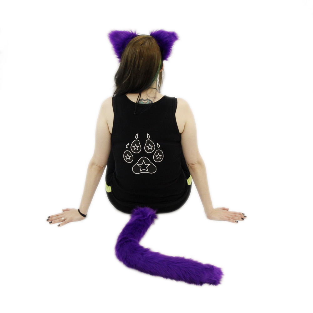 Color Theme Fluffy Mew Ears<br /> & Tail Combo