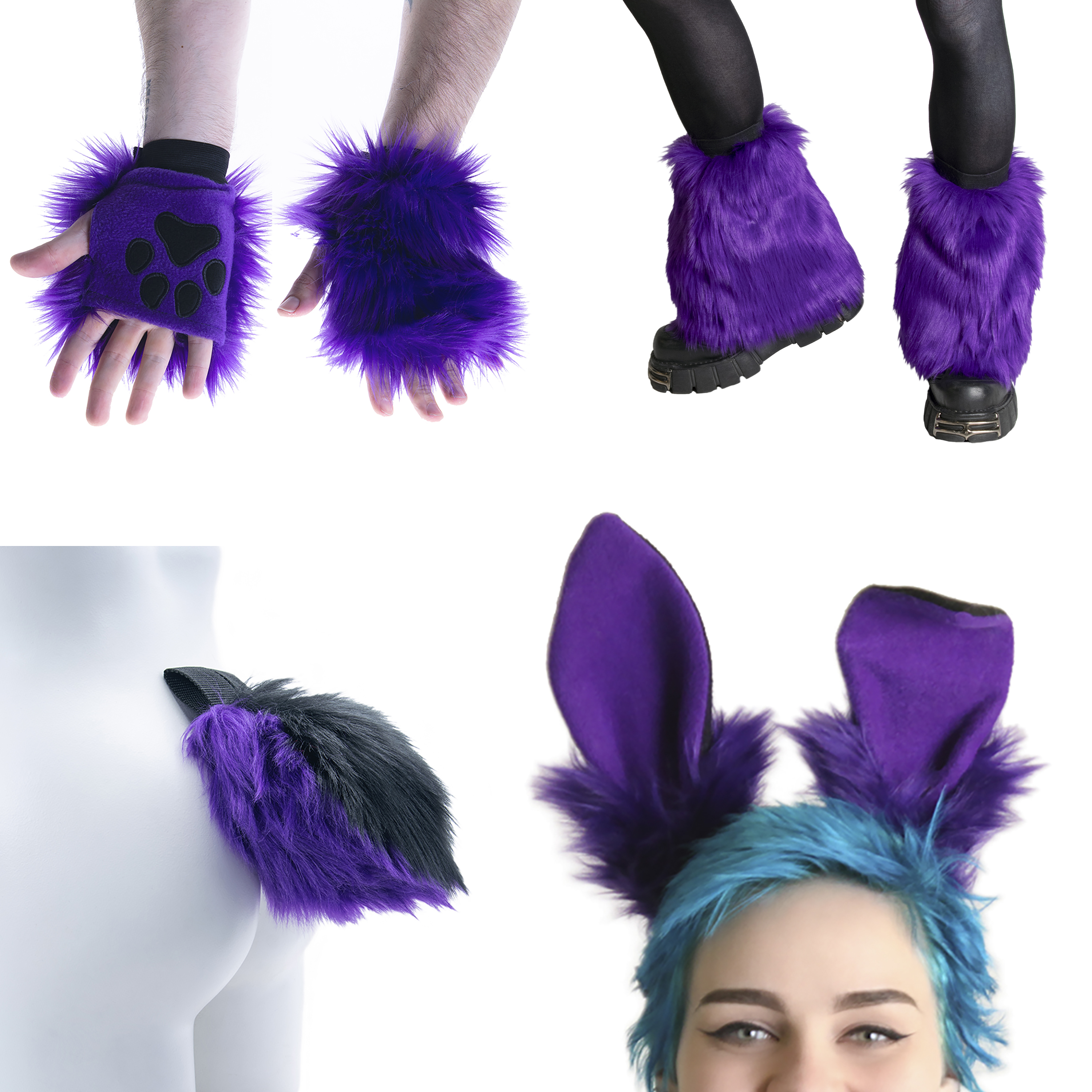 Uppy Bunny Ear, Tail, Cuff, Warmer Mini Combo