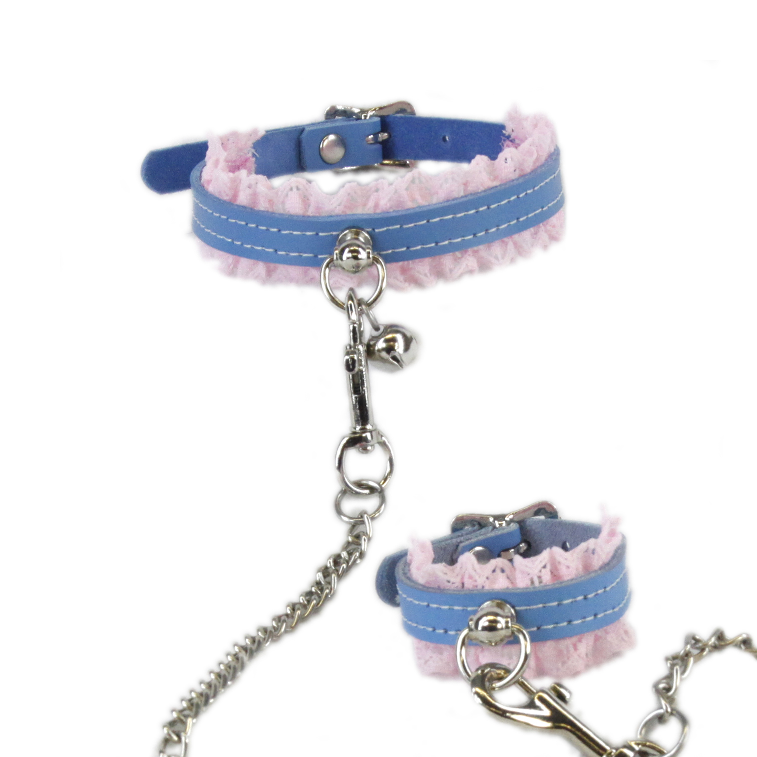 Mini Kitty Bell Lace Collar & Cuff Combo
