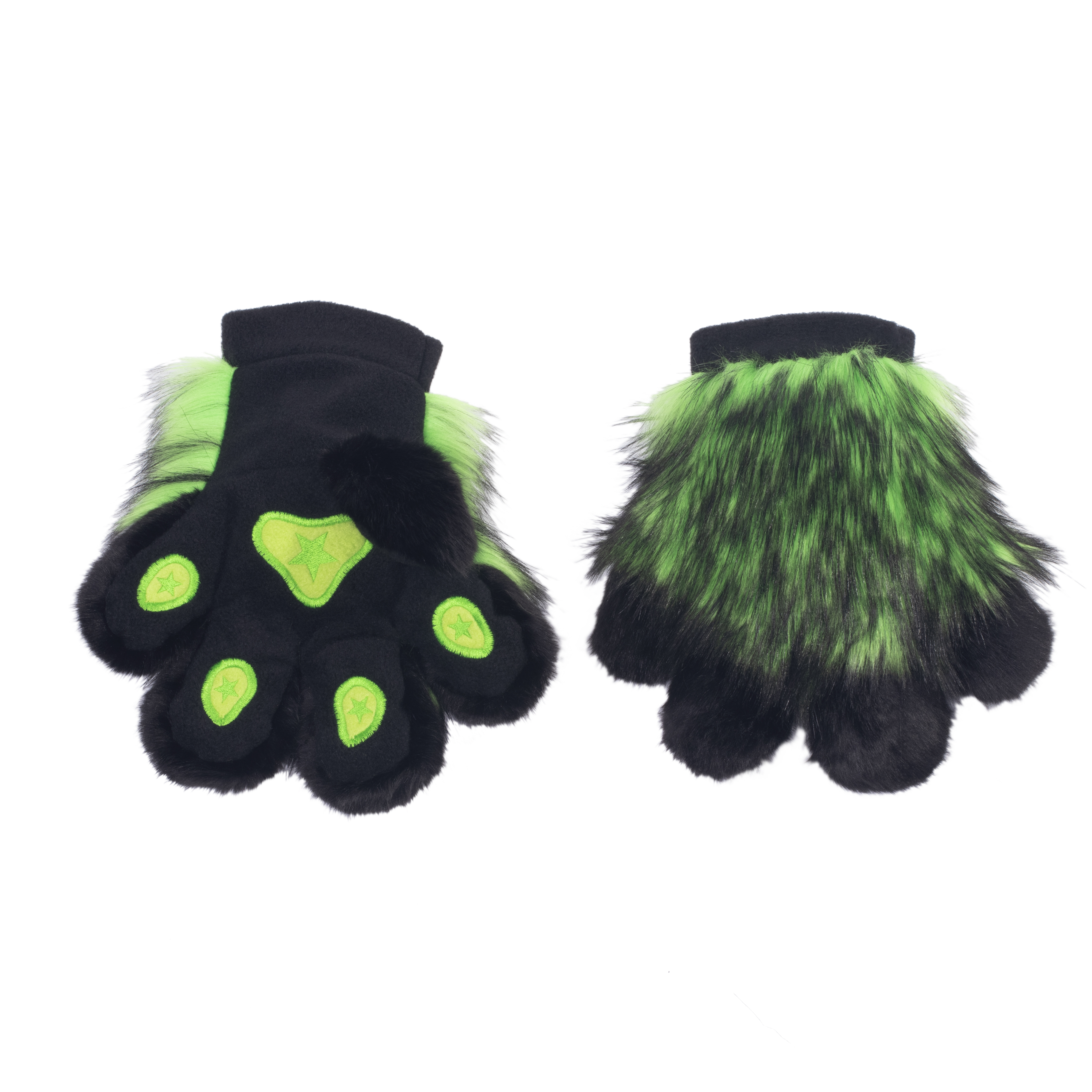 PawMitts Wild Wolf Fur Paw Hand Gloves
