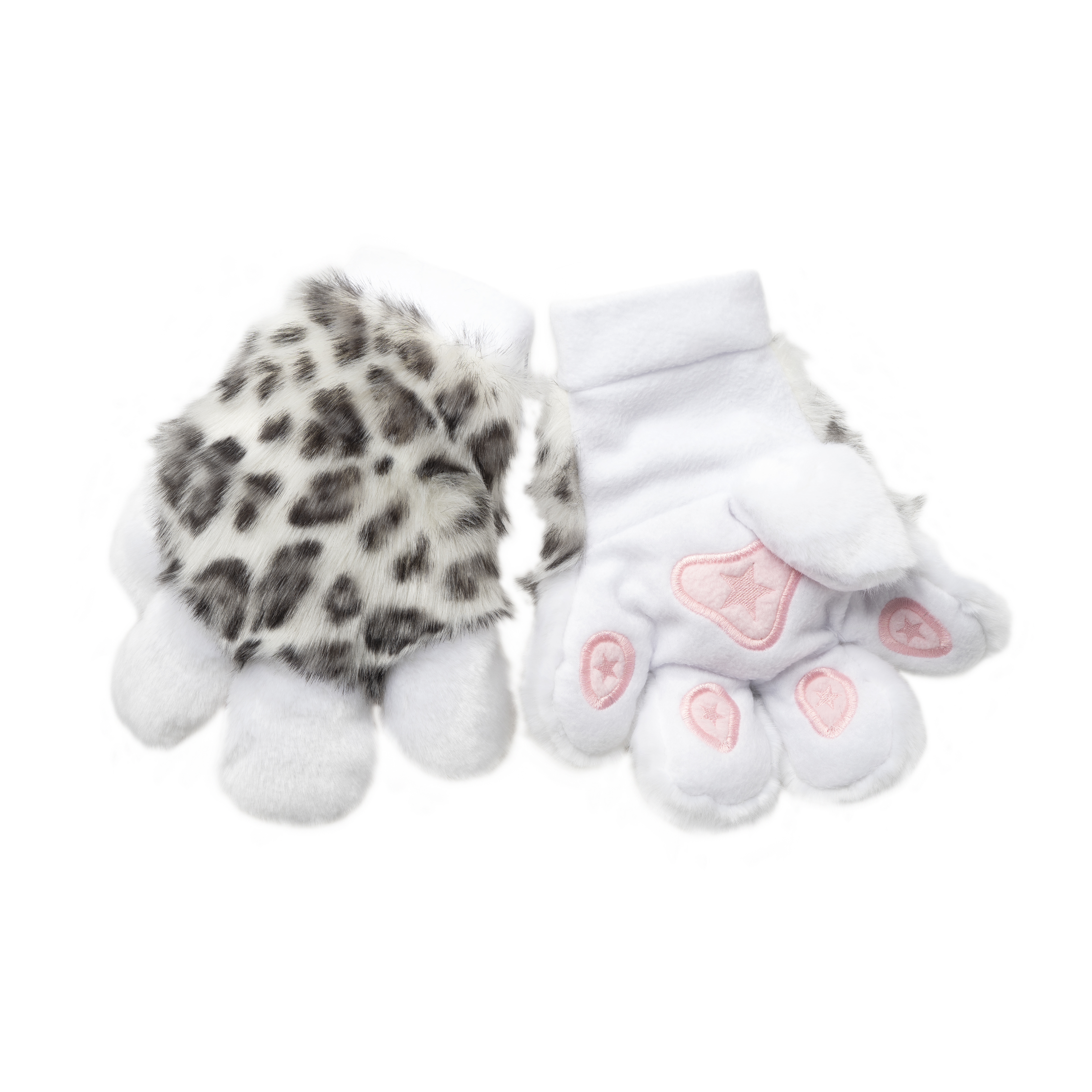 PawMitts Hand Paw Gloves - Leopard Fur