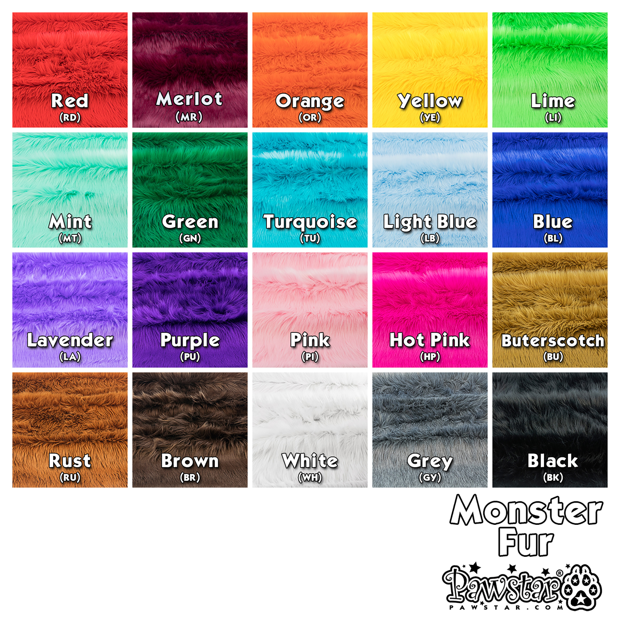 Fur Yardage Swatch